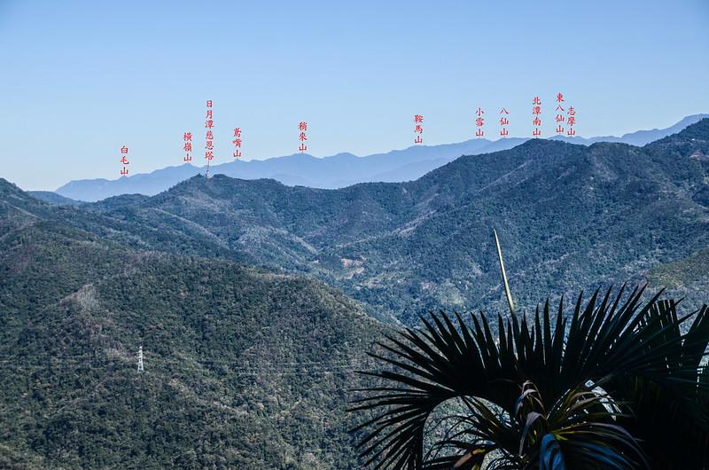 足鉾安山產道(H 867 m)北望群山 1-1