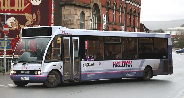 First West Yorkshire (Halifax) 53301 YJ54BVA at Rochdale Interchange.