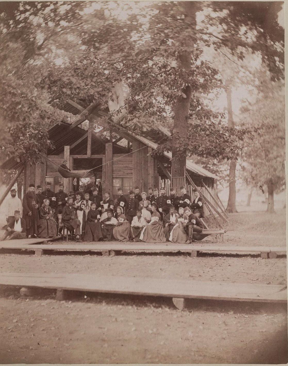 1876. Раненые сербы