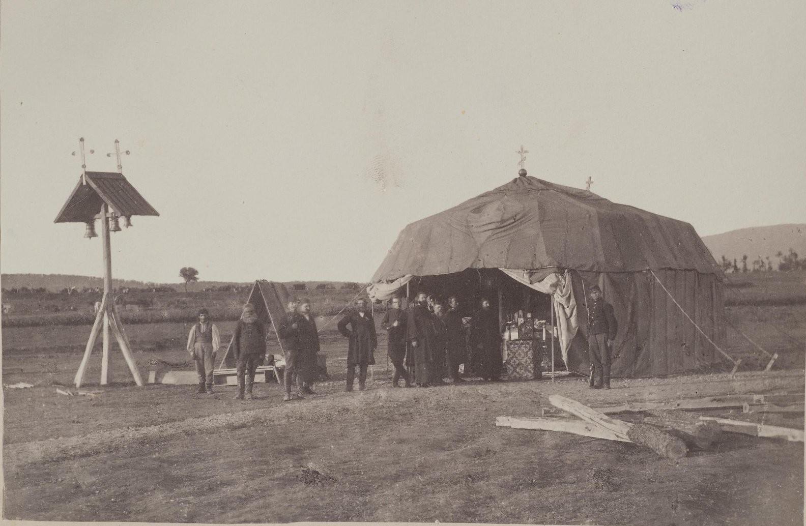 1876. Молебствие у походной церкви