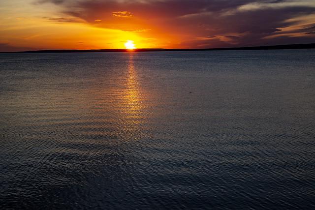 Sunset, Waskesiu Lake, Prince Albert National Park, Sask