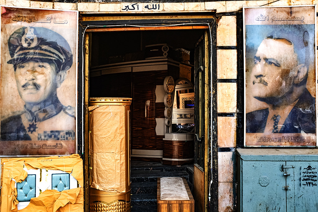 Sadat and Nasser at furniture store on 1-12-21--Cairo
