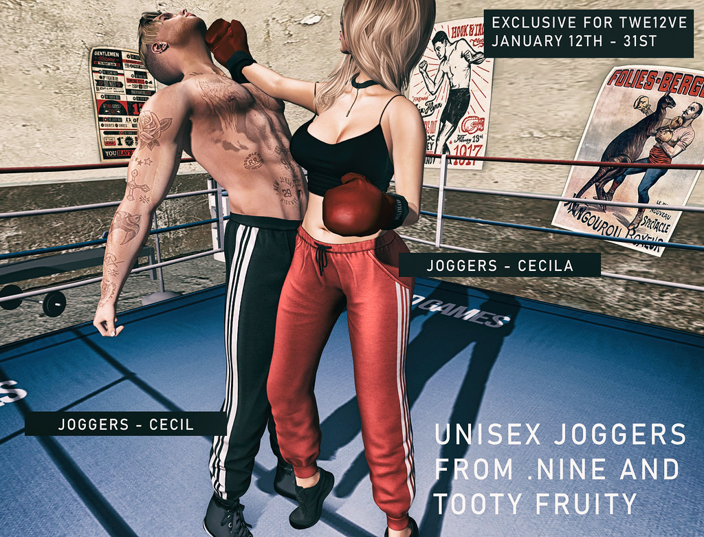 Tooty Fruity .Nine Joggers