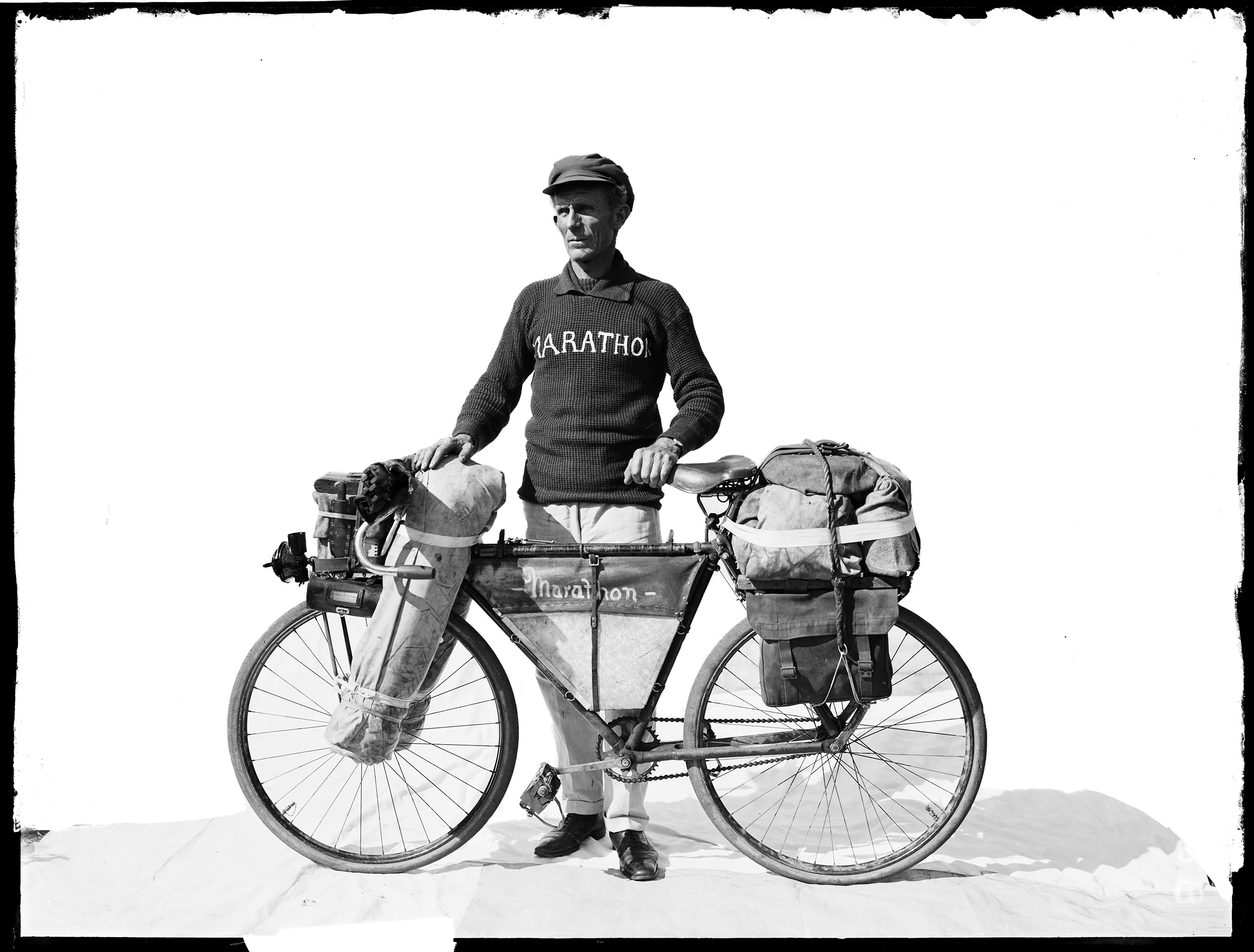Francis Birtles, Australian adventurer, photographer, cyclist, and filmmaker, who set many long-distance cycling records, c. 1920, Arthur Ernest Foster