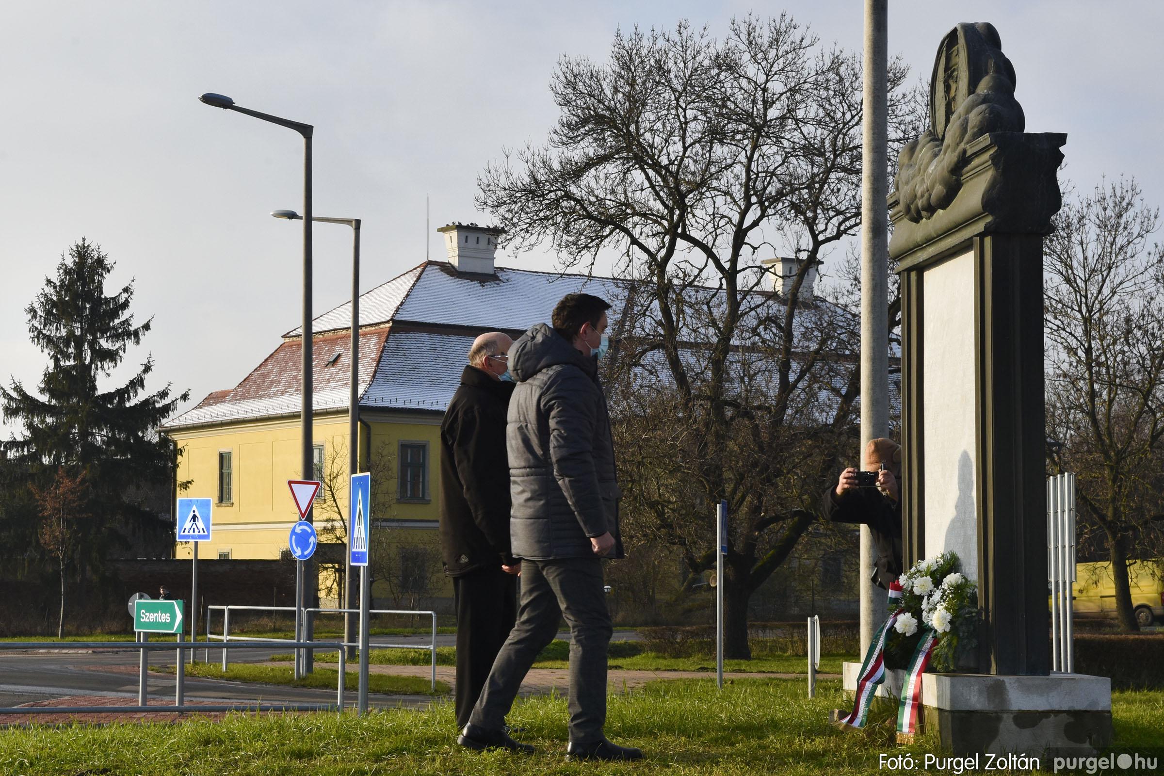 2021.01.12. 012 Megemlékezés a Doni katasztrófa hőseiről - Fotó: Purgel Zoltán© _DSC3652q