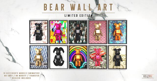 NEW RELEASE - BEAR WALL ART !!! 🔥🔥🔥