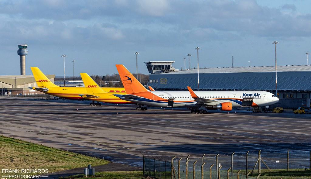 767-33A(ER) UR-CSX, 757-223(PCF) G-DHKP & A300B4-622R(F) D-AEAJ | East Midlands Airport