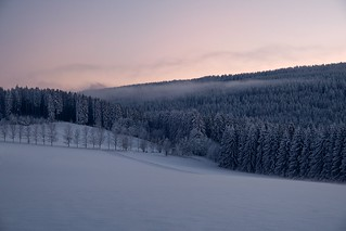 Snow in the Ore Mountains.