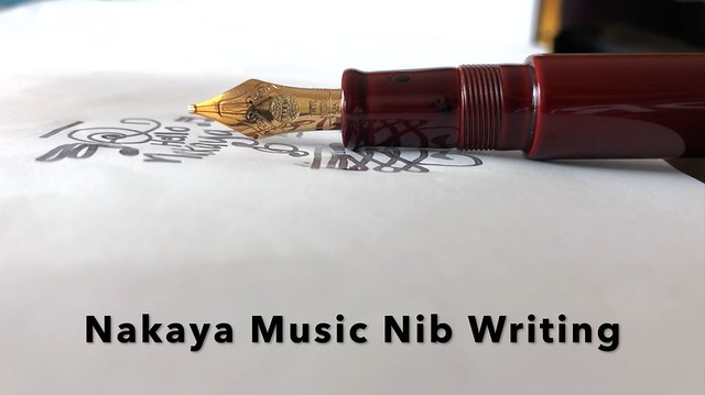 Nakaya Music Nib Writing Title Card
