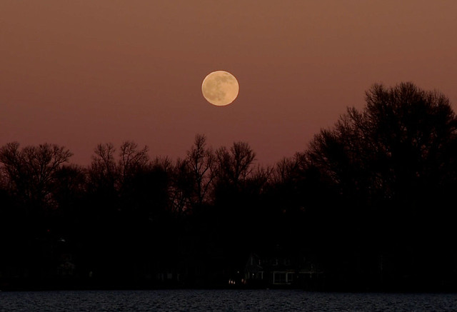 The Cold Moon at Sunset Moment, Dec 2020