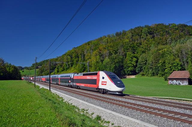 🇨🇭 TGV 9213 @ Tecknau