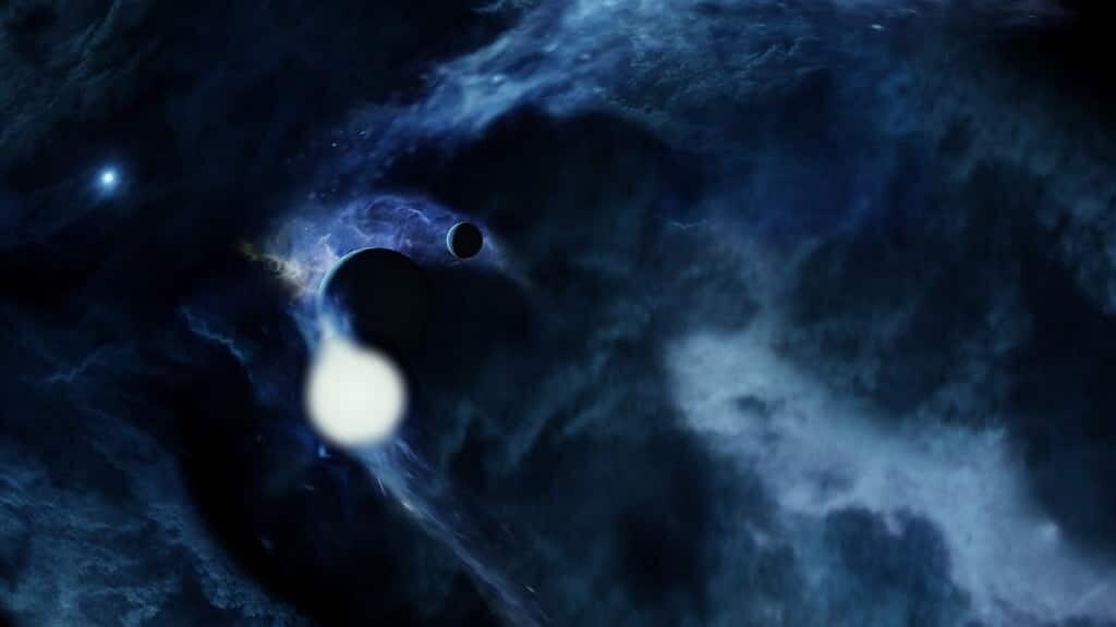 Une naine blanche avale une planète pulvérisée