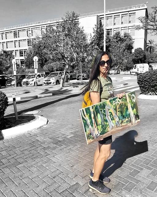 Talia Toeg  Peintures de paysages impressionnistes pour la maison טליה טואג ציירת אמנית ישראלית נוף נופים בטבע אימפרסיוניסטית ציור אימפרסיוניסטי ציורים אימפרסיוניסטים אמנות יוצרת עכשווית מודרנית Plein Air Painting למכירה