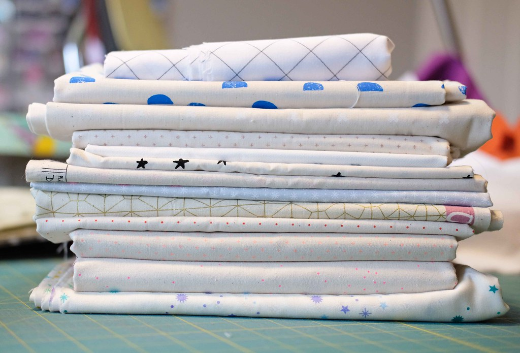 Stashing Low Volume Prints - Kitchen Table Quilting