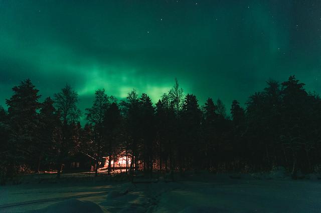 Northern lights at Hyrynsalmi, Finland