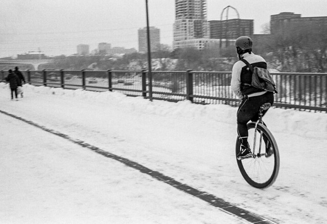 The Winter Unicyclist