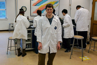 Mark Straub at work in the Chemistry Lab at UC Berkeley.