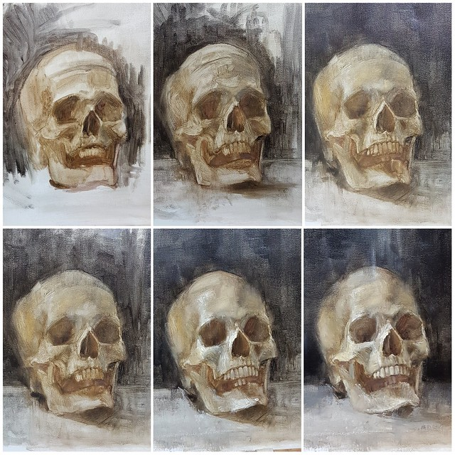 Stages of the process. Human, oil on linen 30 x 40 cm.