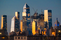 Hudson Yards, NYC, at sunset