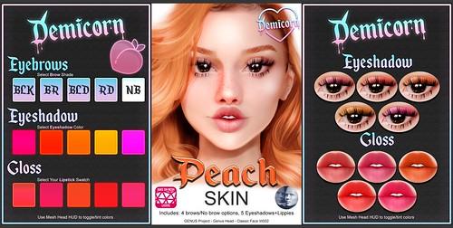 {Demicorn} PEACH Skin Preview