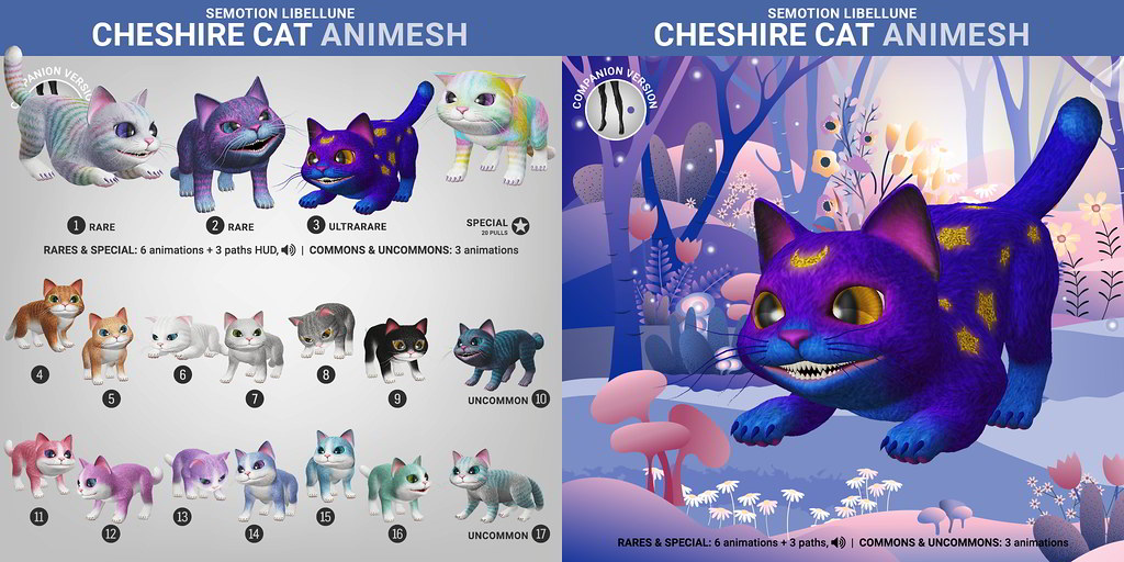 SEmotion Libellune Cheshire Cat Animesh