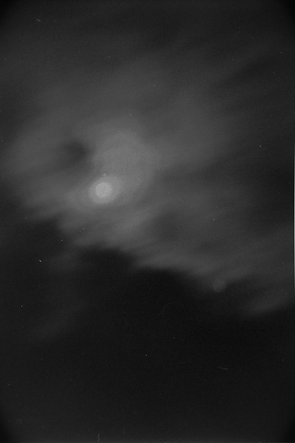 Moon And Moving Clouds