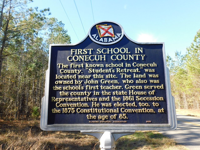 First School in Conecuh County Historic Marker