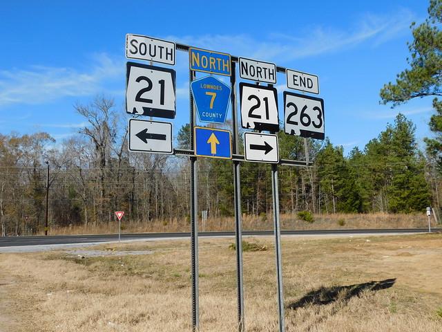 Alabama State Highway Signs