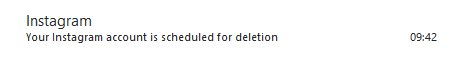 instagram delete confirmation