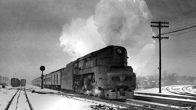 PRR T1 Steam Train In The Snow!