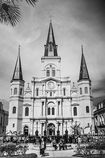 St. Louis Cathedral B&W