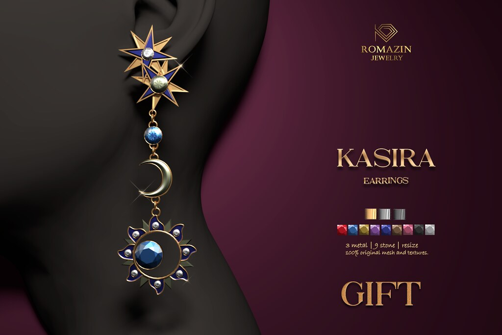 Romazin - Earrings <Kasira>, GIFT