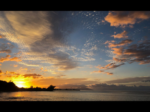 tahiti moorea southpacific pacifique pacific papeete ile island ocean mer sunset ciel polynesia polynesie zen