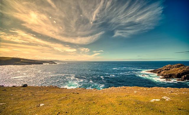 North Atlantic Ocean at Strathy Point, Scotland.