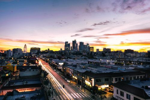 nikon d810 chinatown los angeles downtown buildings architecture dtla tokina 1628mm wide angle lens atx pro new year city hall sunset golden hour hdr blending idk skyline skyscraper