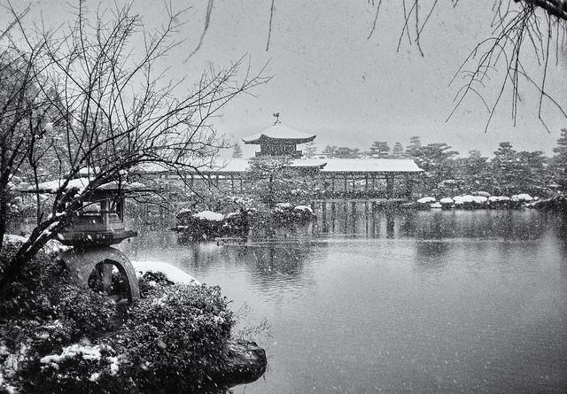 Snow across the lake