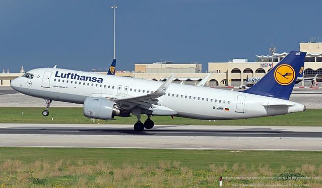 D-AINE LMML 09-01-2021 Lufthansa Airbus A320-271N CN 7103