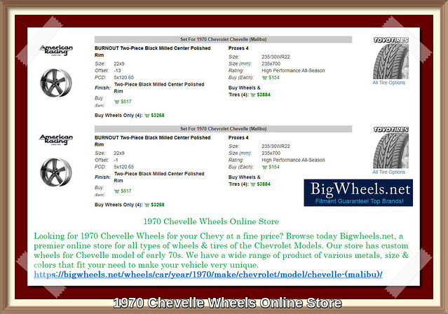 1970 Chevelle Wheels Online Store
