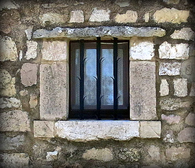 Barred Window: Fox-Amphoux, Var, Provence