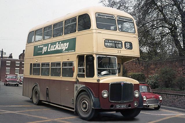 Colchester Corporation . 22 194MNO . Colchester Bus Park , Essex . April-1973