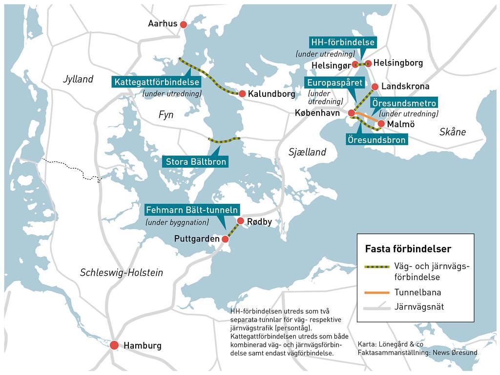20210113 Kartgrafik utredningar fasta forbindelser Oresund svensk