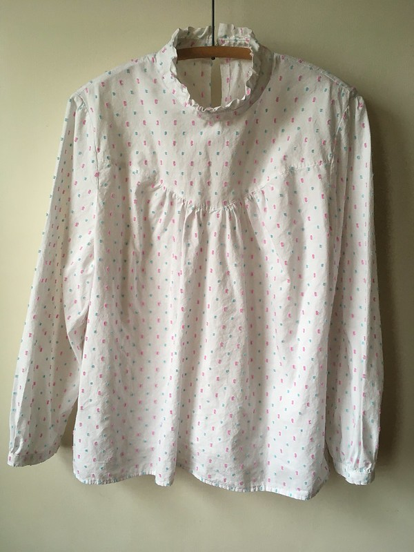 Fibre Mood Victoria Blouse in Cotton Swiss Dot Voile