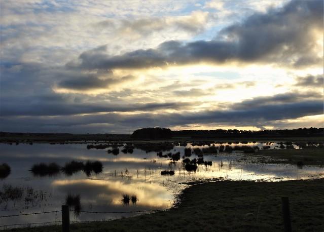 Druridge Ponds - Cloudscape Dawn