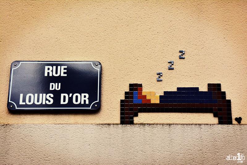[13 janvier 2021] – Un jour, une photo : Des mosaïques humoristiques sur les murs de Rennes