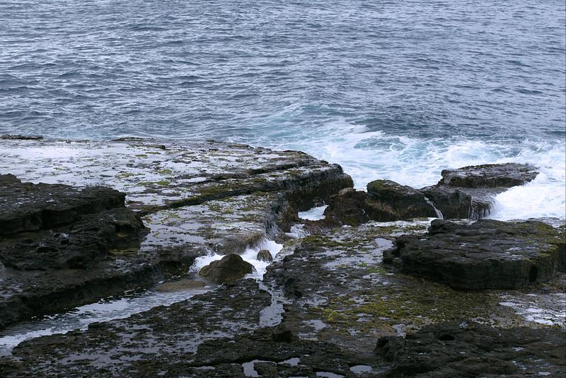 Channel on Penguins Head rock shelf