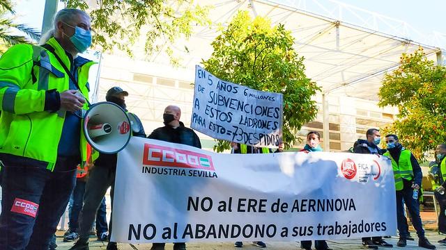 Foto de CCOO de Sevilla. Aernnova Consejería de Empleo