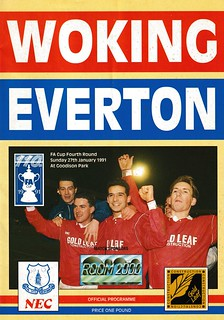 Woking v Everton FA Cup 27/01/1992