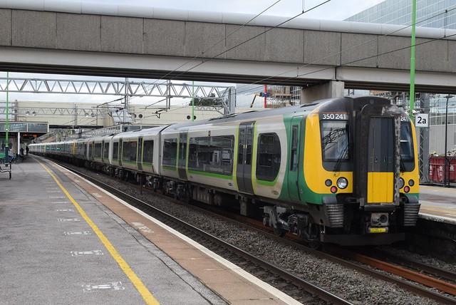 LNWR/WMR 350242, 350241 and 350111 @ Milton Keynes Central railway station