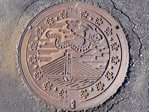 Kisuki Shimane, manhole cover (島根県木次町のマンホール)