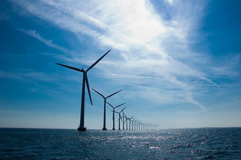 離岸風電示意圖。圖/Andreas Klinke Johannsen(Flickr)提供
